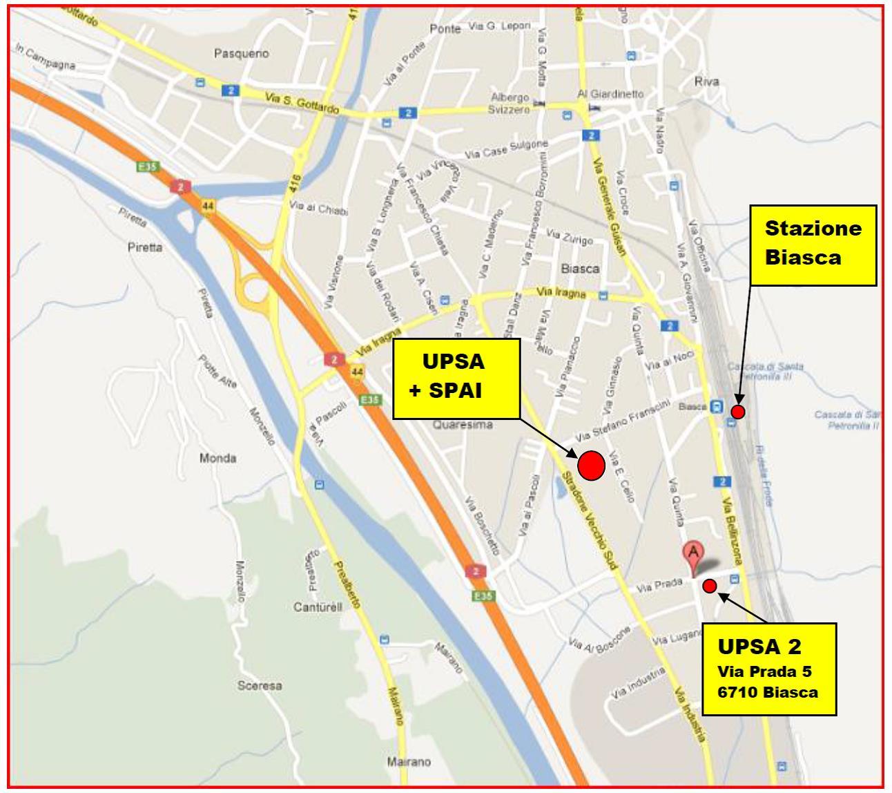 Centri di formazione professionale UPSA 1 + 2 a Biasca