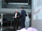il Presidente del CdA Wilfried Graf insieme a Ralf Exel, moderatore della serata.