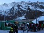 L'après ski party al campo sportivo di Saas-Fee.