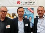 Bruno Moser (USIC), Thomas Jäggi e Olivier Maeder (UPSA): «Questo è l'ambiente ideale per presentare le nostre formazioni professionali e continue.»