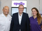 Felice Di Paolo, Markus Brunner e Selina Friedli (Apollo): «Il pubblico proviene dal ramo ed è molto interessato ai prodotti esposti.»