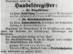Handelsregistereintrag vom 9. September 1915