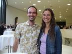 Peter Stadler di HH Taxizentrale GmbH con la sua amica Martina Gwerder: dell'ESA apprezza l'ampio assortimento.