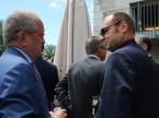Il presidente di auto-schweiz François Launaz a colloquio con Jürg Röthlisberger, direttore dell'Ufficio federale delle strade USTRA.