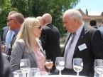 Monique Baldinger a colloquio con Martin Sollberger, presidente della sezione UPSA dell'Argovia.