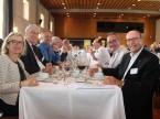 Hanno apprezzato il pranzo squisito: Corinne Bizzini, presidente onorario UPSA Roland Ayer, Dominique Kolly, Nicolas Leuba e Silvio Bizzini (da s. a d.).