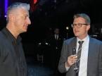Il CEO uscente di Scout24 Olivier Rihs (sx.) in uno scambio di battute con Marcel Stocker di Digital Enterprise.