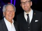 André Hefti, direttore del Salone dell'automobile di Ginevra, e Dieter Jermann.