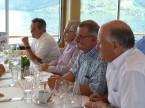Da sx: Fritz Bosshard (ex Presidente della sezione ZH), Alfons Hungerbühler, Hermann Schaller (entrambi ex membri del CC) e Patrick Schwerzmann (ex Presidente della Sezione SC).