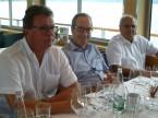 Da sx a dx: Thomas Schlaepfer (ex membro del CC e Presidente della Sezione SG), Urs Wernli e Gianfranco Christen.