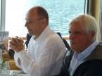 Da sx a dx: Enrico Camenisch e Angelo Vismara (ex membro del CC)