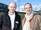 Kurt Wyssbrod (Technomag) e Giuseppe Raia (Altola): «I garagisti possono parlare direttamente con i fornitori, il che succede di rado.»