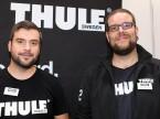 Bastian Gawer e Daniel Büllesbach (Thule): «Qui si possono avviare buoni colloqui con i garagisti in un'atmosfera rilassante.»