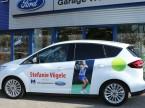 Stefanie Vögele si sente già a suo agio nella Ford C-Max.