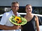 I fiori sono sempre una gioia: Christian Müller e Stefanie Vögele.